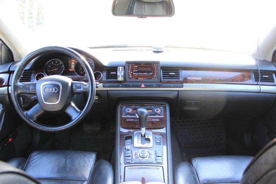 Audi A8 Long Quattro, цвет — черный металик, салон — черная кожа, 4-х зонный климат контроль, вентиляция + подогрев сидений, люк.  Выбирайте цель - мы предложим путь!  Модно! Стильно! Молодежно! - заказать авто надежный! - фото 4167363 Компания VIP-auto - автомобили