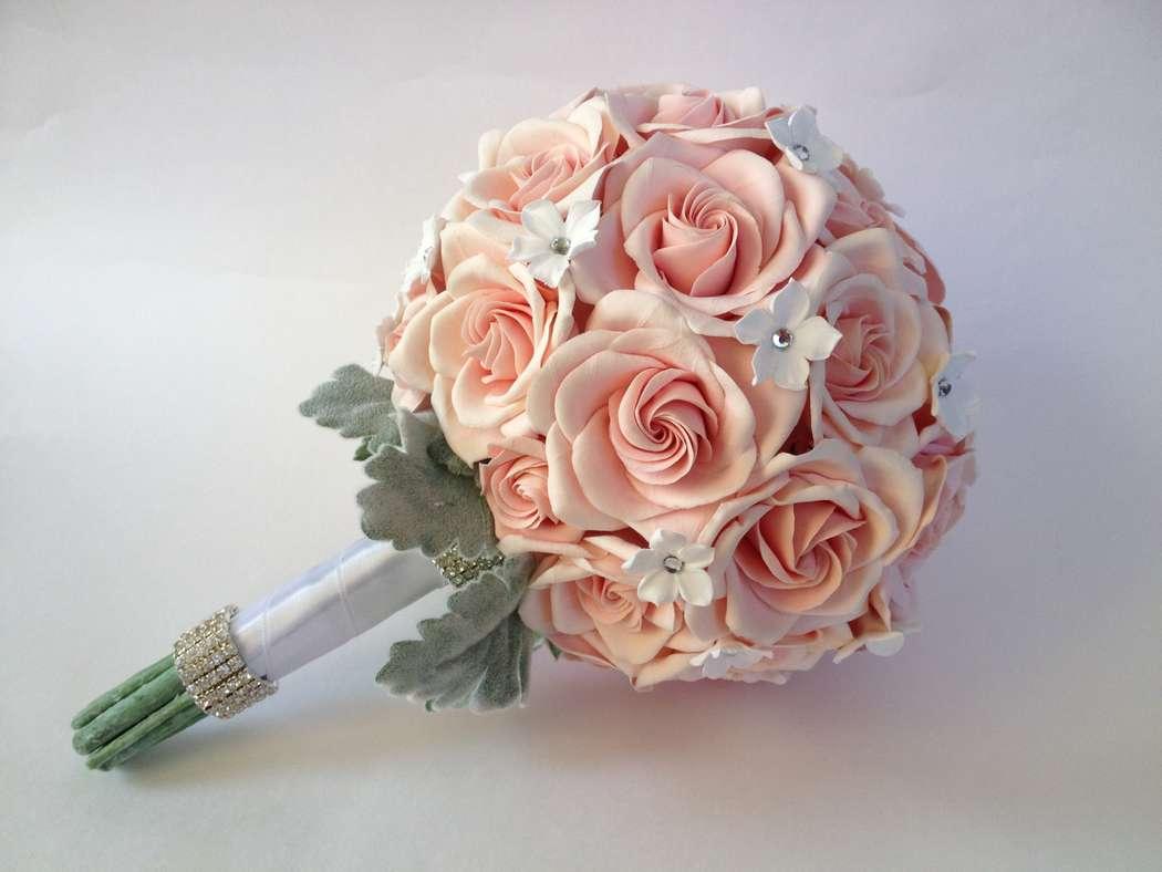 Букеты из роз для невесты фото 2018 из живых цветов
