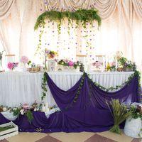 Фиолетовая свадьба. Флористика. Прованс. Президиум. Стол молодых