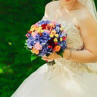 свадебный букет с гортензией