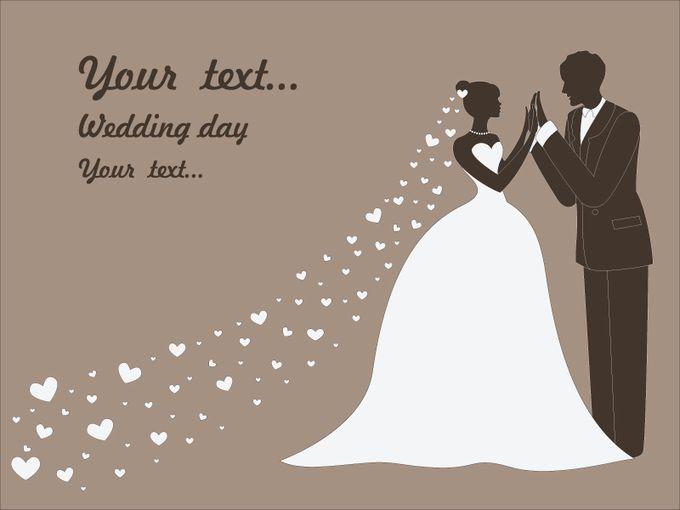 Шаблон жениха и невесты для открытки 14