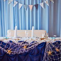 Декор стола молодоженов в морском стиле