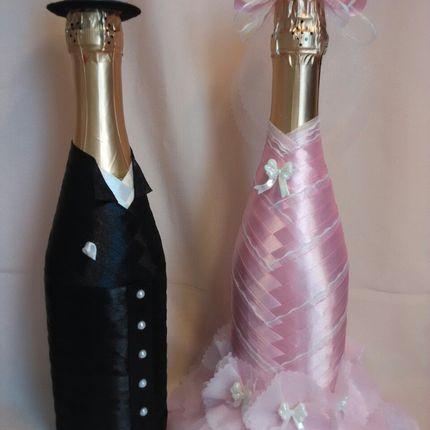 """Свадебное шампанское из набора """"Glory нежность"""""""