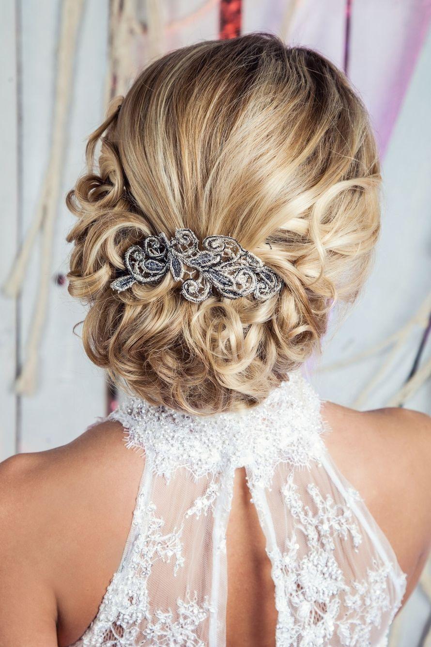 Прическа собранные волосы сзади на средние волосы фото