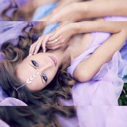 Свадебный дымчатый макияж в прохладных тонах