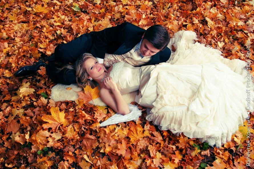 Свадебное фото осенью идеи