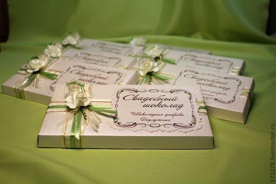 Шоколад подарки гостям 6