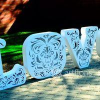 Ажурные буквы LOVE для выездной церемонии или украшения зала