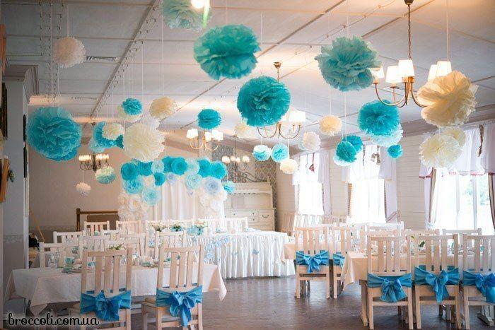 Фото 4833071 в коллекции Оформление помпонами - Декорация - организация и оформление свадеб