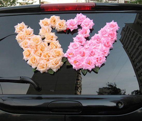 Украшение авто - фото 4833085 Декорация - организация и оформление свадеб