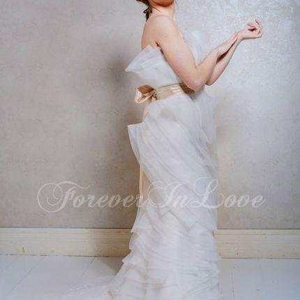 Свадебное платье на шнуровке