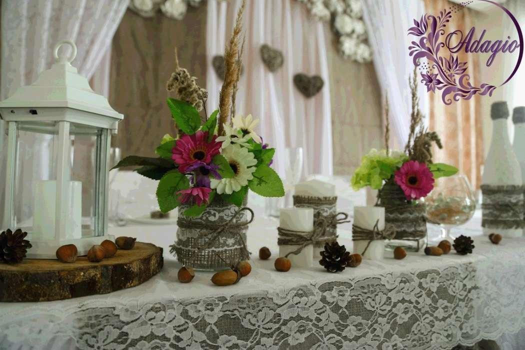 """Фото 4916553 в коллекции Свадьба в стиле rustic - """"Adagio"""" - свадебный декор"""