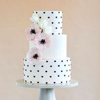 Красно белые свадебные торты