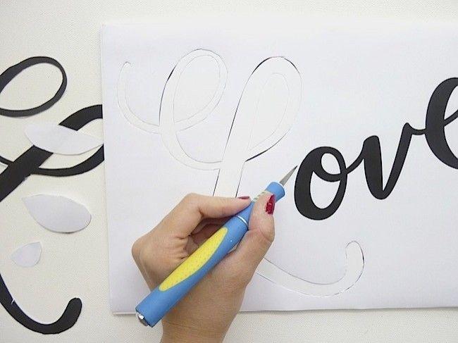 Как сделать надпись на бумаге
