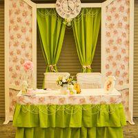 Цветочный рисунок, зеленый