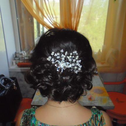 Аксессуар в причёску невесты