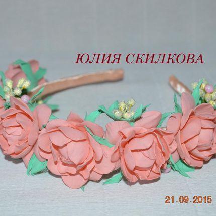 Ободок в любом цвете для фотосессии