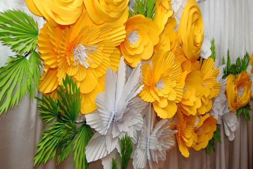 Бумажные цветы своими руками из бумаги большие