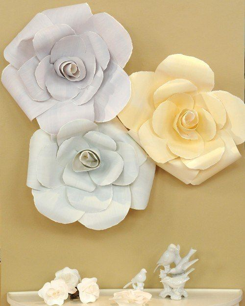Как сделать большие розы из бумаги для оформления