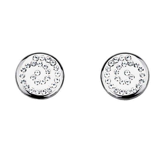 Серьги Parisienne mini rhodium crystal Покрытие - родий Вставки: кристаллы Swarovski   - фото 5089115 Ювелирный салон Mademoiselle Jolie Paris