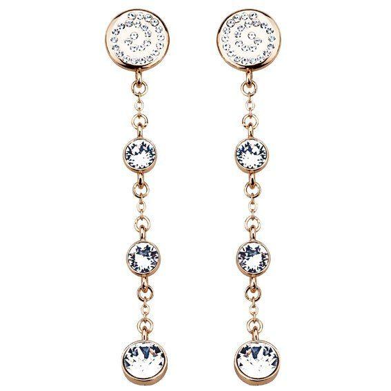 Серьги Parisienne soir gold crystal Покрытие - золото 585 пробы Вставки - кристаллы Swarovski   - фото 5089141 Ювелирный салон Mademoiselle Jolie Paris