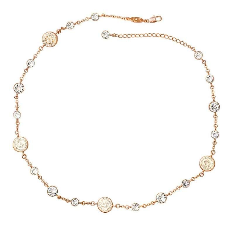 Колье Parisienne grand gold crystal Покрытие - золото 585 пробы Вставки - кристаллы Swarovski   - фото 5089169 Ювелирный салон Mademoiselle Jolie Paris