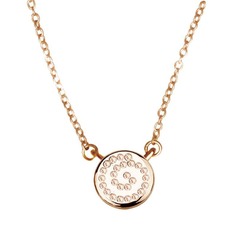 Кулон Parisienne mini gold silk Покрытие - золото 585 пробы Вставки - кристаллы Swarovski   - фото 5089185 Ювелирный салон Mademoiselle Jolie Paris