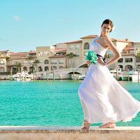 свадебное платье и сандалии - ручной пошив и ручной декор