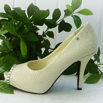 Свадебные туфли 36 р- цвет слоновая кость