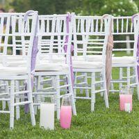 розовое оформление церемонии
