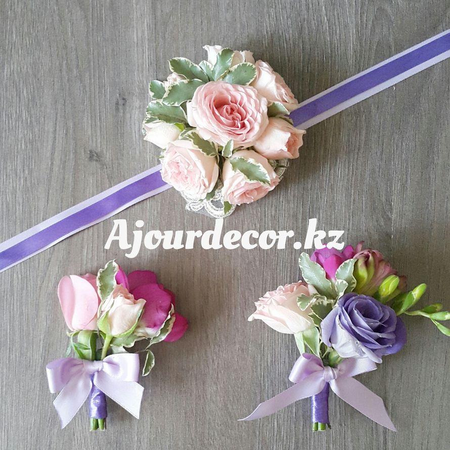 Свадебные аксессуары - 2 бутоньерки и браслет для подружки невесты - фото 5118105 Ajour Decor - Студия свадебного оформления