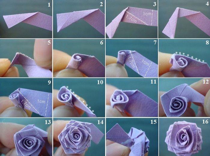 Как сделать цветы из розы