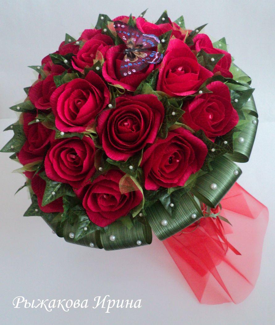 """Букет собран из 25 цветов в каждом цветочке находится конфетка """"МАРСИАНКА"""" , диаметр букета 36 см, высота 48 см - фото 5168479 Свит дизайн Рыжакова Ирина"""