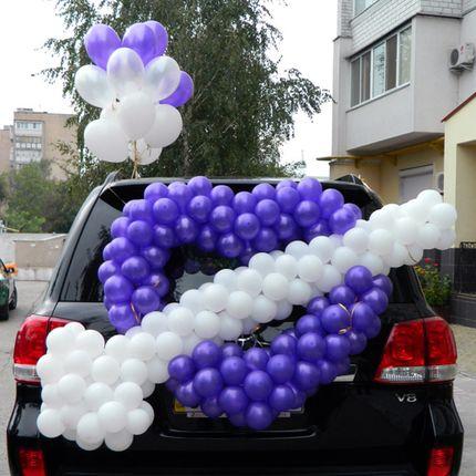 Оформление машин шарами