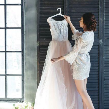 Свадебное платье Шанти-пудра (TF)