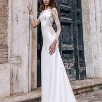 Шер (RL) Прямое свадебное платье с юбкой в пол и небольшим шлейфом. Создавая такое платье, дизайнеры позаботились о сочетании красивых кружевных рукавов и облегающего фигуру  приятного дабл-сатена. Платье аккуратно повторяет форму невесты и превосходно са