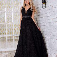 Тинси (FL) Длинное сексуальное вечернее платье с атласным поясом, открытой спинкой и глубоким вырезом декольте