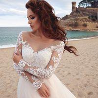 Бенедикт (MR)Романтичное свадебное платье цвета легкой пудры с кружевным верхом-маечкой и пышной фатиновой юбкой