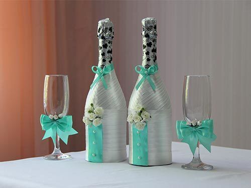 Украшения на шампанское фото