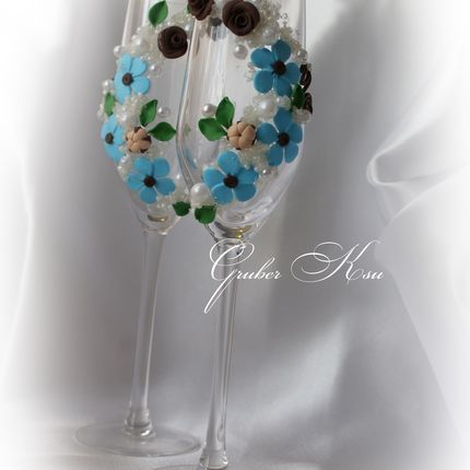 Свадебные бокалы из тонкого французского стекла