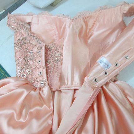 Свадебное персиковое платье