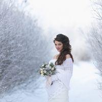 невеста Александра...зимняя красота... фотограф Фархат Байсадыков  образ невесты: прическа, макияж - я