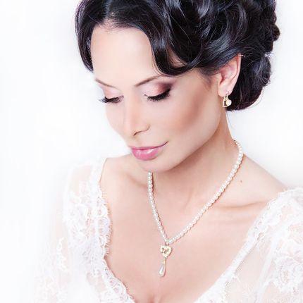Макияж для невесты + причёска