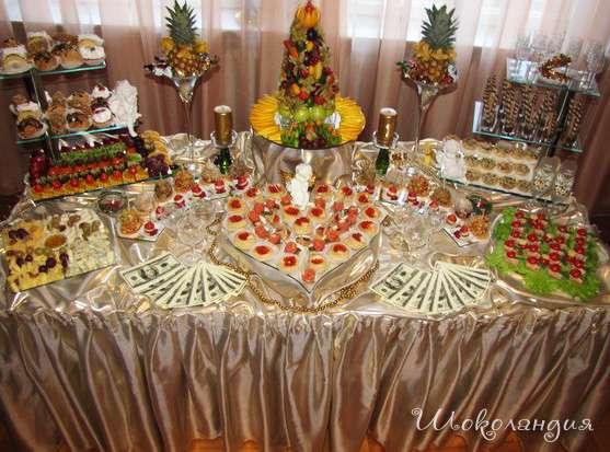 Фуршетный стол на свадьбу дома