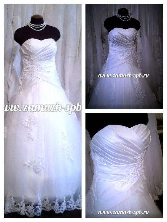 Кружево по низу свадебного платья