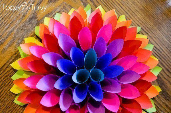 Как сделать объемный бумажный цветок