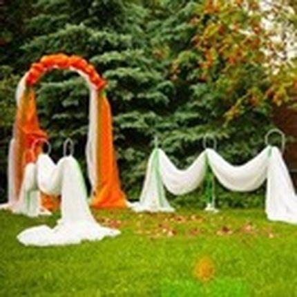 Свадебная арка оранжевая