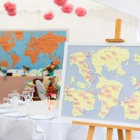 Карта рассадки. Свадьба в стиле путешествий.
