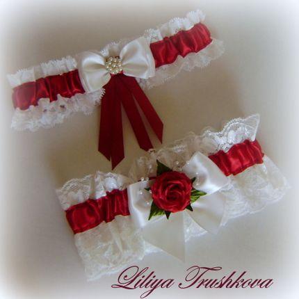 Комплект подвязок для невесты.