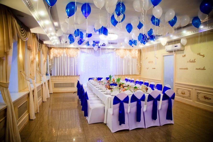"""Бело-синее оформление  - фото 9797252 Банкетный зал """"Корсаков"""""""